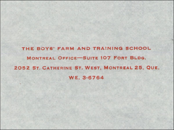 Shawbridge Boys Farm and Training School logo - 1964