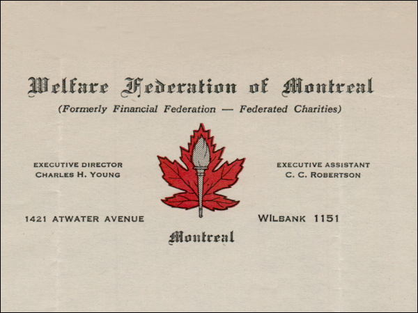 Welfare Federation of Montreal logo