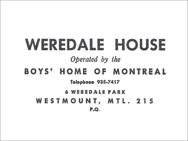 Weredale House logo in 1960